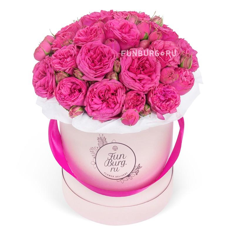 Цветы в шляпной коробке «Шик»