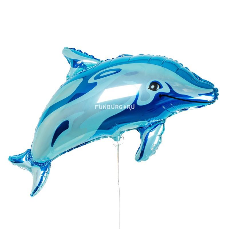 Шар из фольги «Дельфин»Из фольги с рисунком<br> <br>Размер:<br><br><br> 38/97 см<br><br><br> <br>Производитель:<br><br><br>Flexmetal, Испания <br>