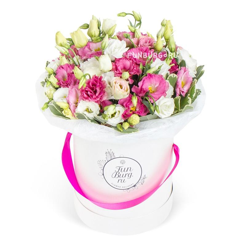 Цветы в шляпной коробке «Миледи»
