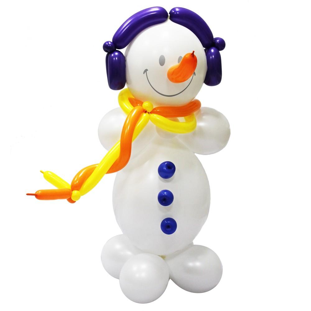 Фигура из шаров «Снеговик в наушниках»Все фигуры<br>Высота: 70 см<br>