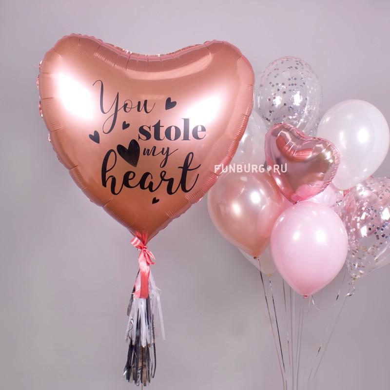 Шар из фольги c надписью «Stolen Heart» фото
