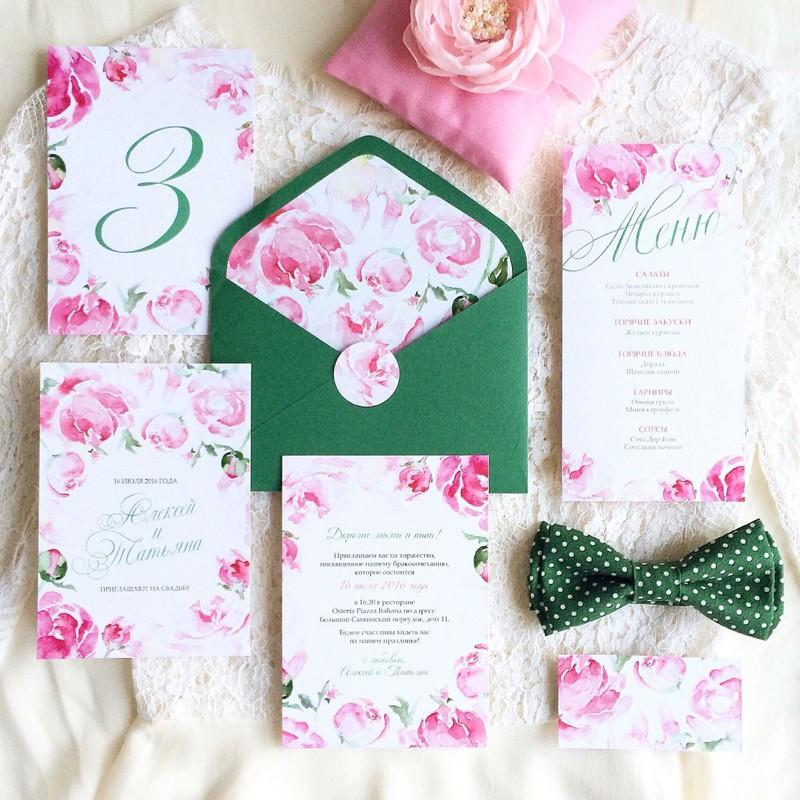 Комплект свадебной полиграфии №3 фото