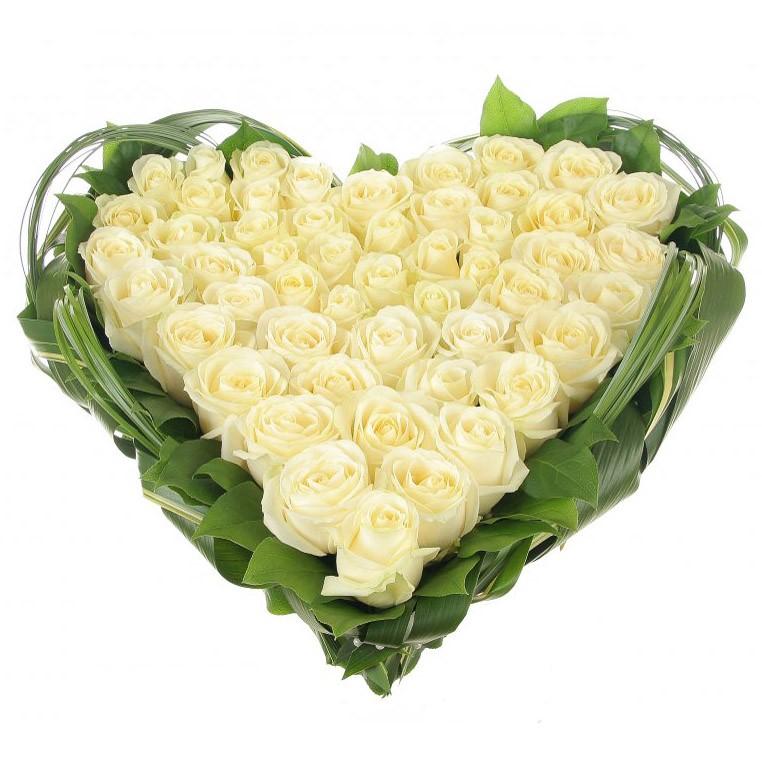 Купить Цветочная композиция «Белое сердце»