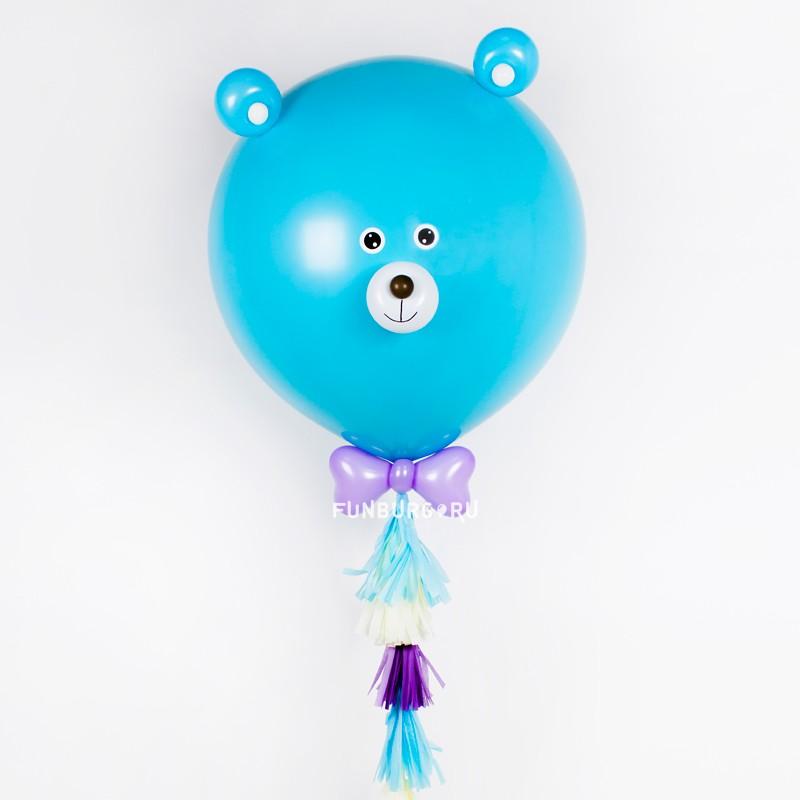 Фигура «Метровый шар Мишка» (мальчик) фото