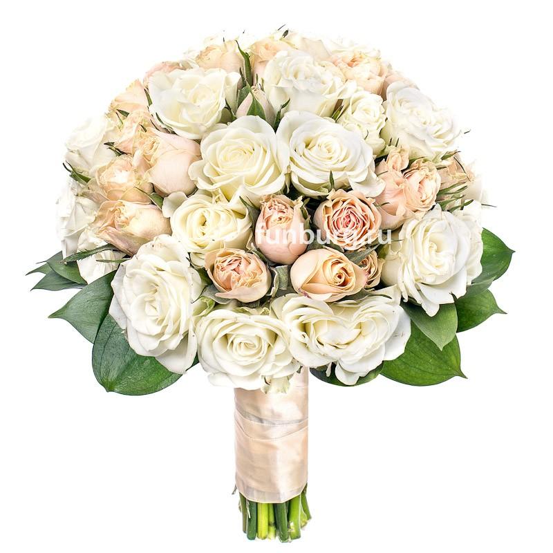 Букет невесты «Любящие сердца» фото