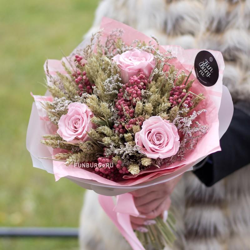 Купить Букет из сухоцветов «Вишневый сад»