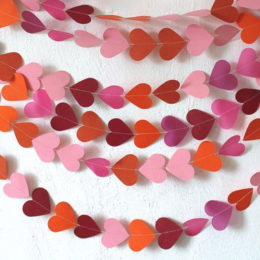 Гирлянда из сердец «Грейпфрут» фото