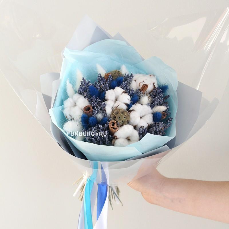 Букет из сухоцветов «Морозный»