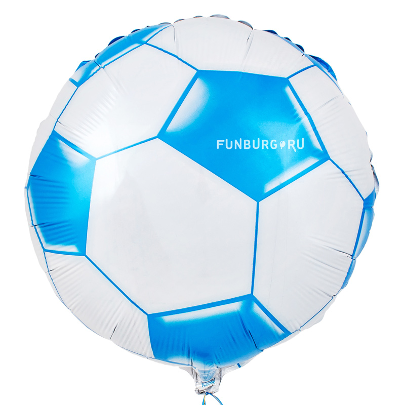 Шарик из фольги «Футбольный мяч (голубой)» фото