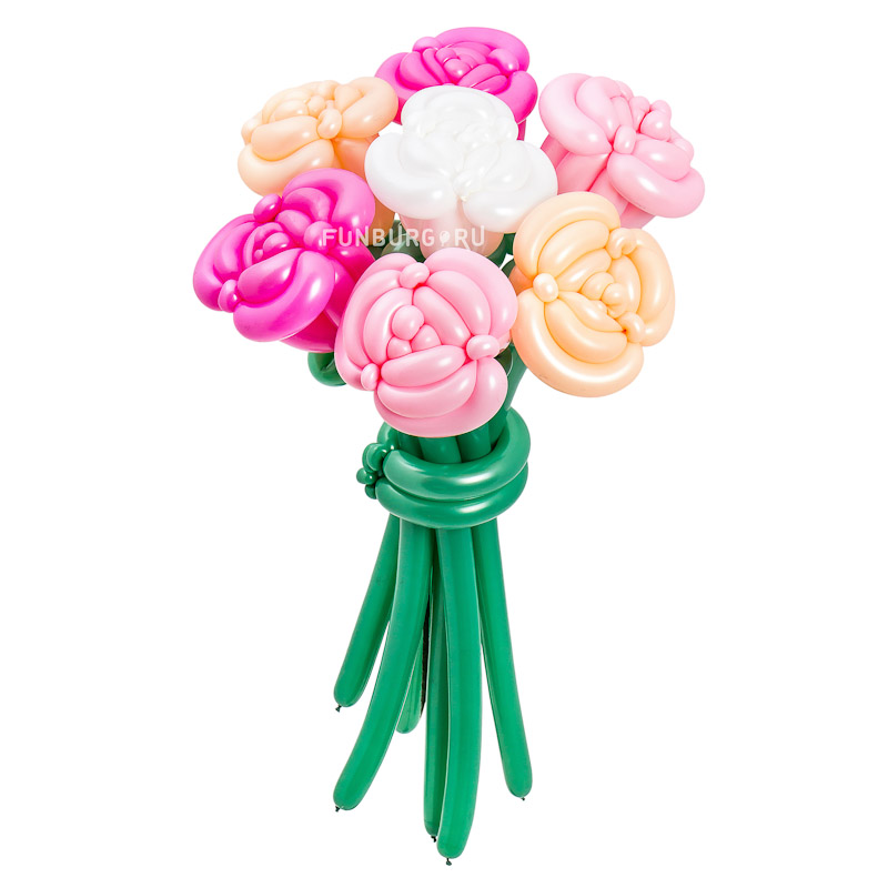 Фигура из шаров «Букет роз»Цветы из шаров<br> <br>Размер:<br><br><br>70 см<br><br><br> <br>Производство:<br><br><br>Funburg.ru<br><br>
