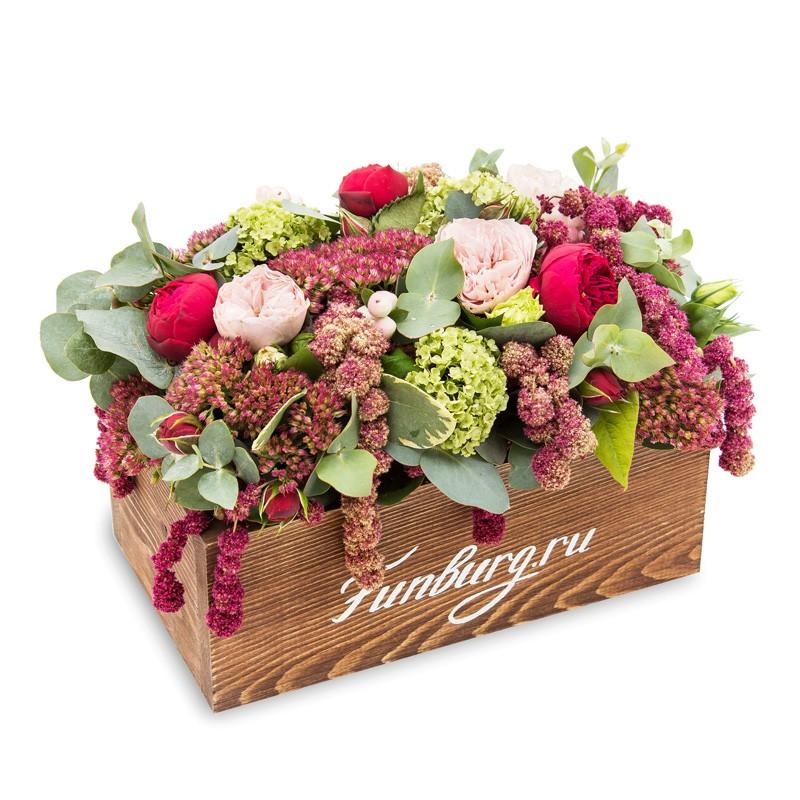 Букет с розами белыми и герберой