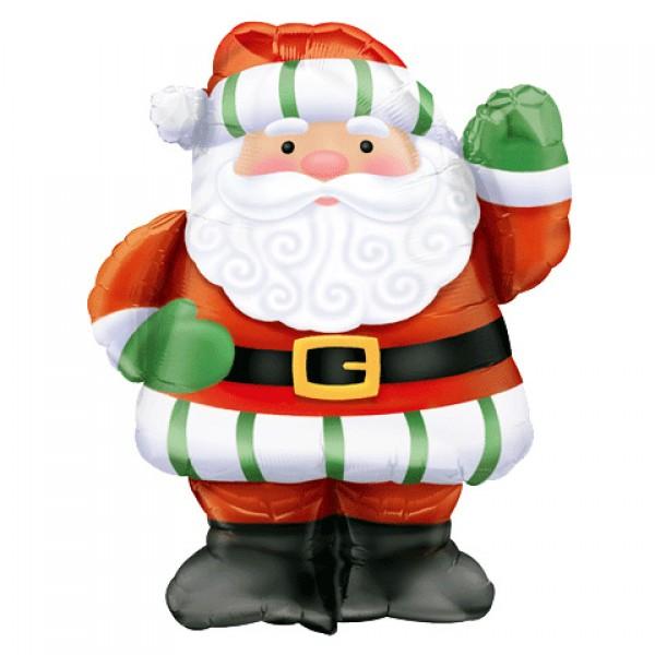 Шар из фольги «Большой Санта»Из фольги с рисунком<br>Размер: 56?71 смПроизводитель: Anagram, США<br>