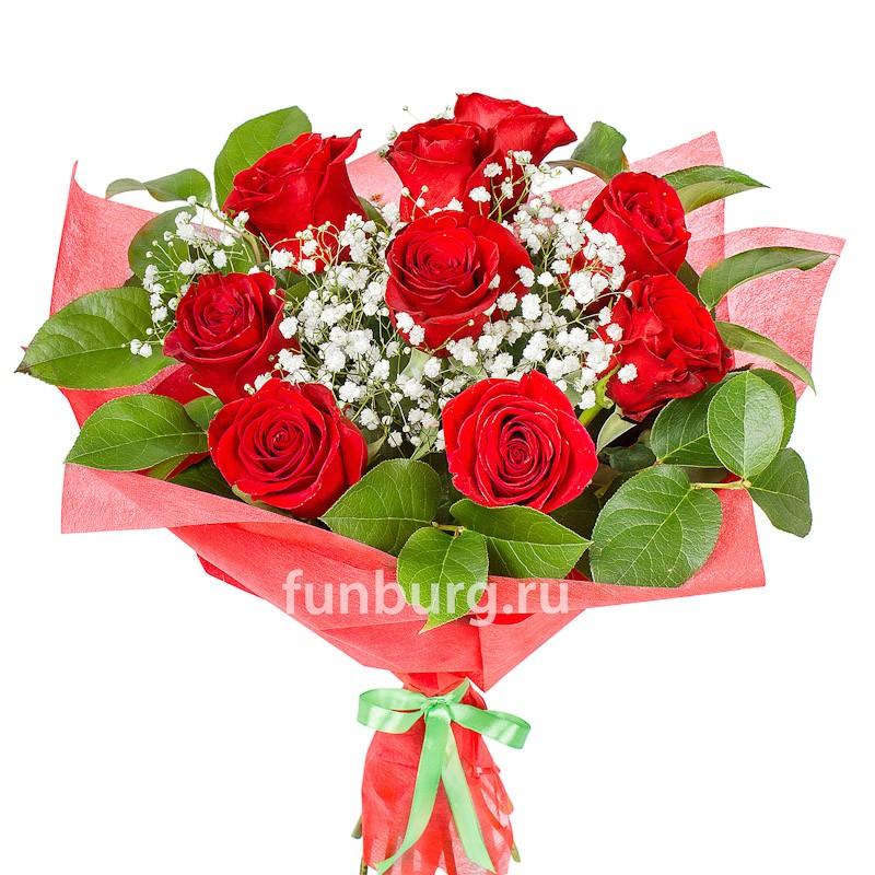 Букет роз «Кармен»