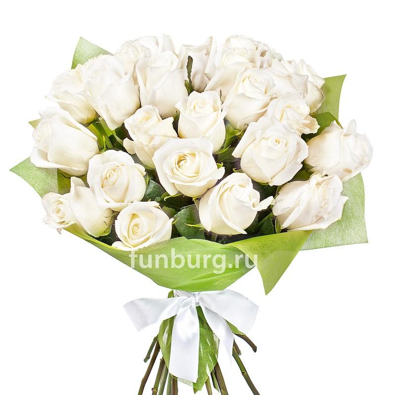 Букет белых роз «Венский вальс»