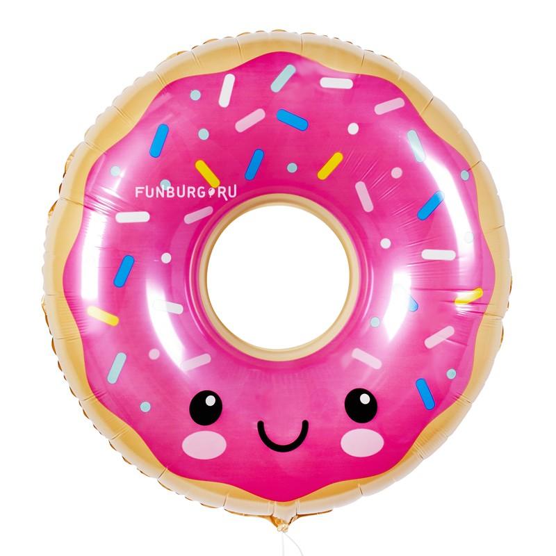 Шар из фольги «Пончик в глазури» фото