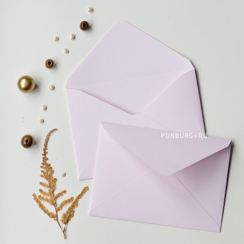 Конверт C6 «Нежно-розовый» из дизайнерской бумаги фото