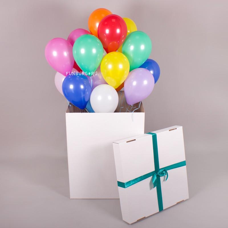 Большая коробка с шариками 10″ «Сюрприз!»