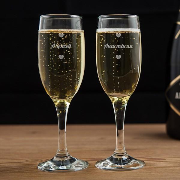 Бокалы для шампанского «Влюблённая пара» фото