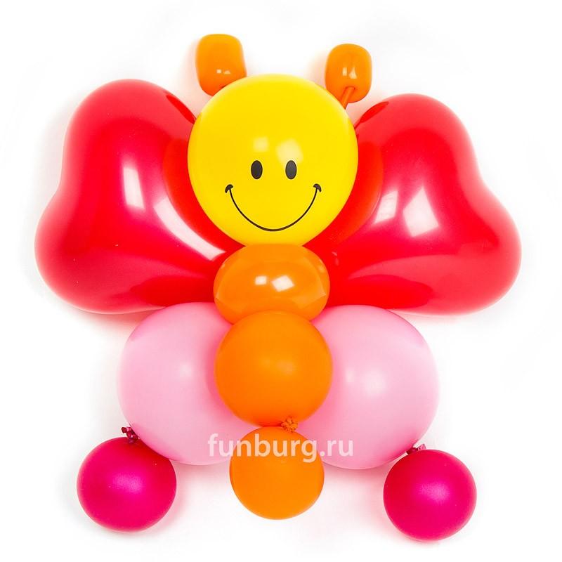 Фигура из шаров «Веселая бабочка» фото