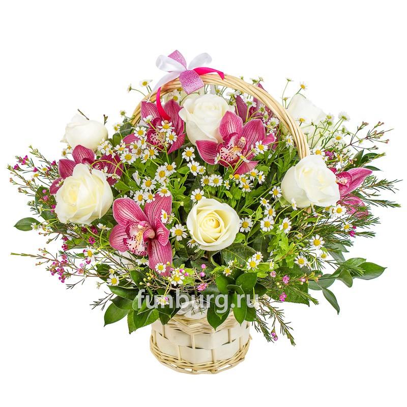 Корзина цветов «Летняя соната» фото