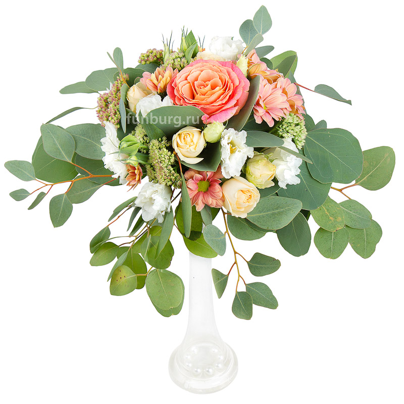 Настольная композиция в высокой вазе (вар. 2)