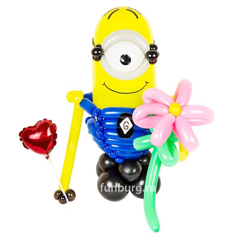 Фигура из шаров «Влюбленный миньон Стюарт» фото