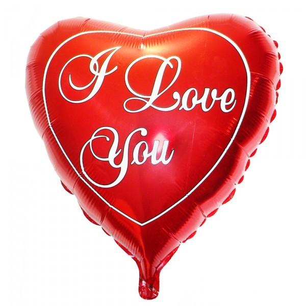 Шарик из фольги «I Love You»Для любимых<br>Размер: 45 см (18) или 59 см (23)<br>Производитель: Flexmetal, Испания<br><br>Стоимость фольгированного шара без гелия: 70.-<br><br>