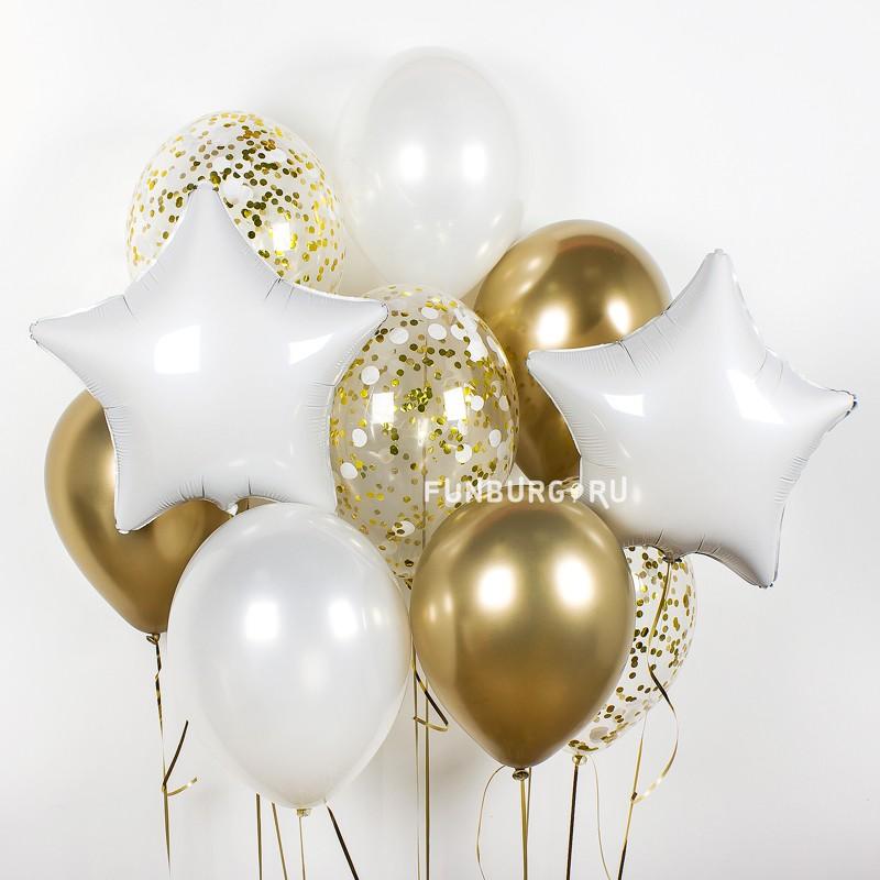 Набор шаров «Золотое сияние» фото