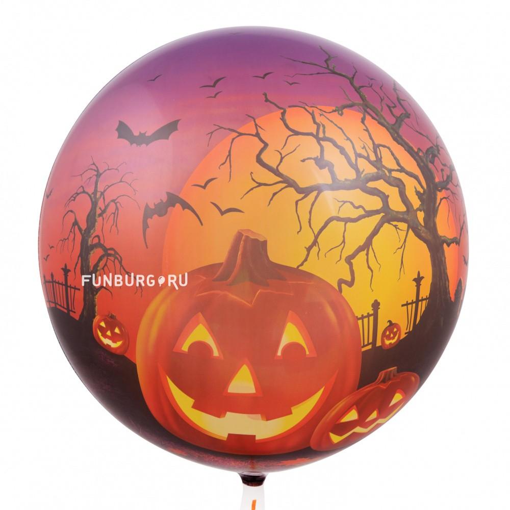 Купить Шар Bubble c рисунком «Halloween»