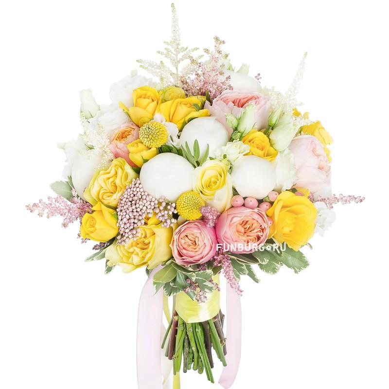 Букет невесты «Лимонад»