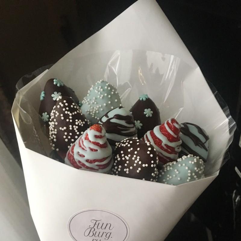 Купить Букет из клубники в шоколаде №1
