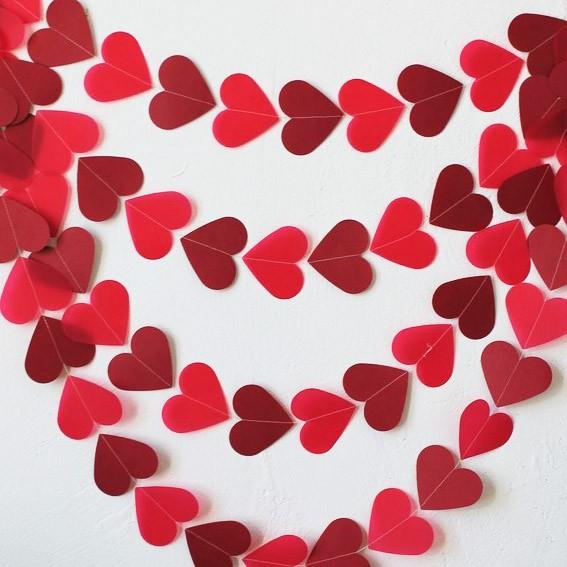 Купить Гирлянда из сердец «Любовь»