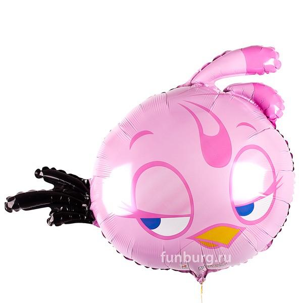 Шар из фольги «Розовая птица» фото