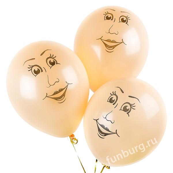 Воздушные шары «Женские лица» фото