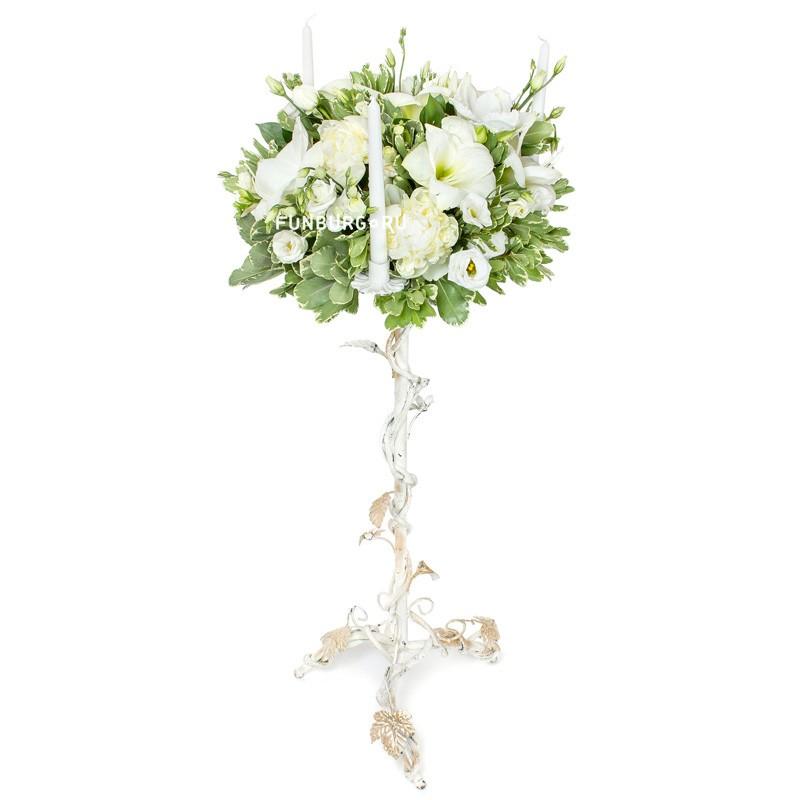 Напольная свадебная композиция на стойке