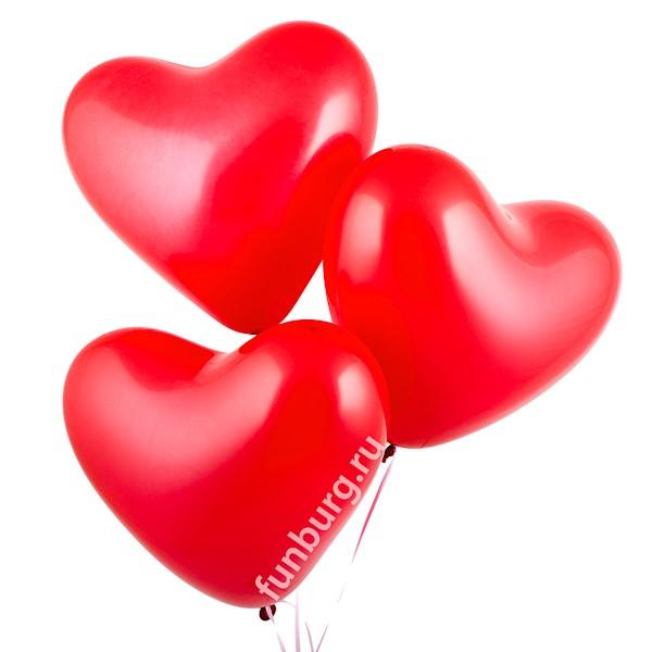 Купить Воздушные шары (16дюймов) «Красные сердца»