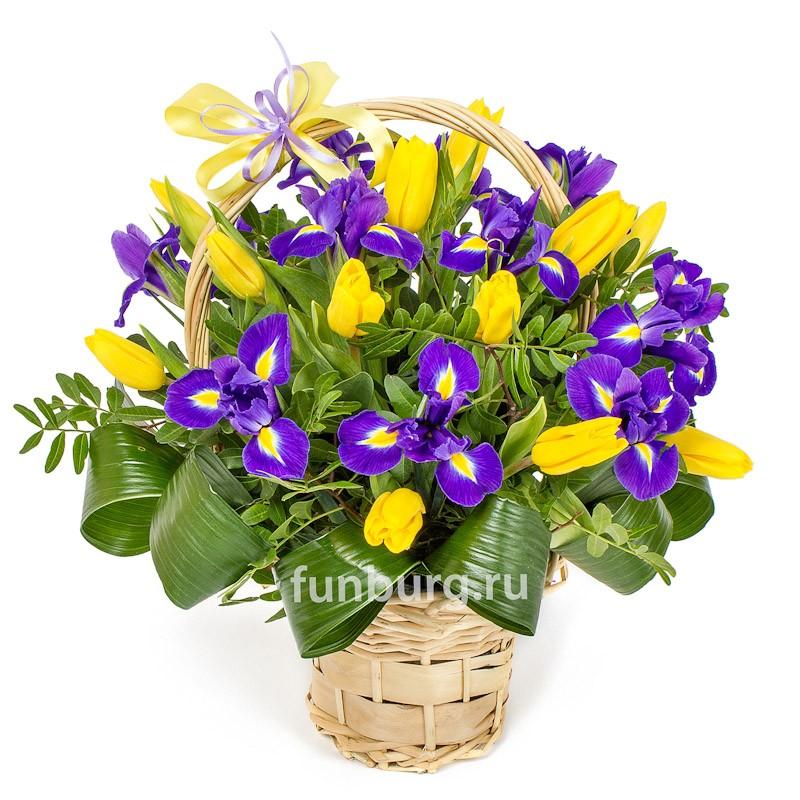 Корзина цветов «Весенний романс» фото