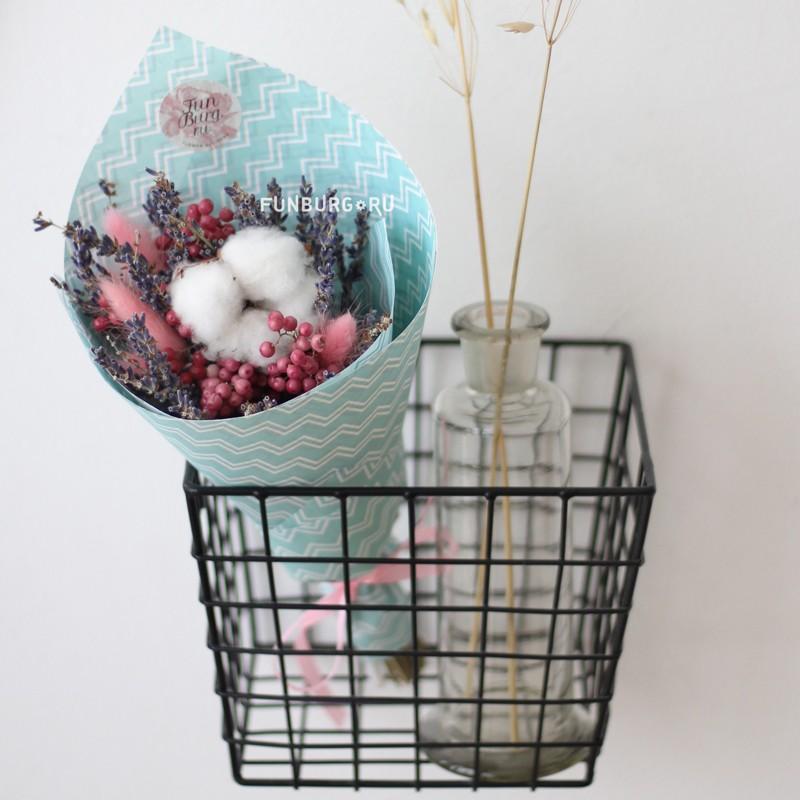 Купить Букетик из сухоцветов «Мята»