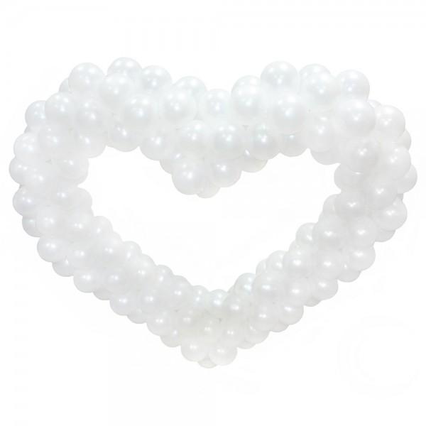 Фигура из шаров «Белое сердце» фото