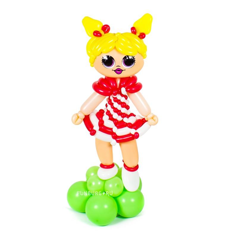 Фигура из шаров «Кукла LOL в красном платье» фото