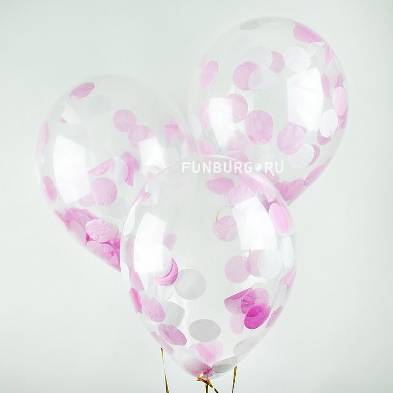 Купить Шар с конфетти «Розовый блеск»