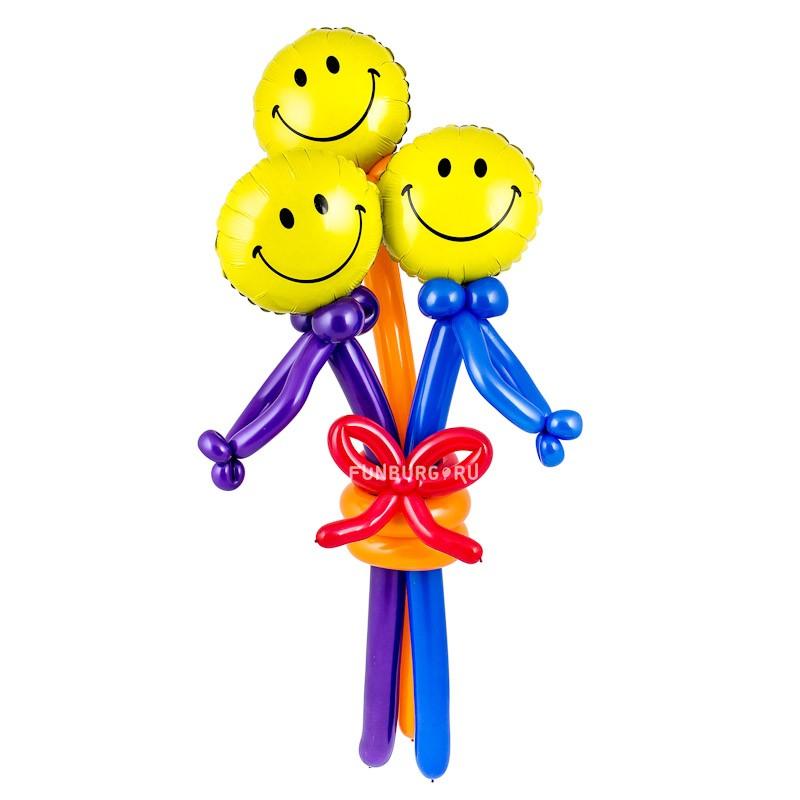 Купить Фигура из шаров «Букет смайлов»