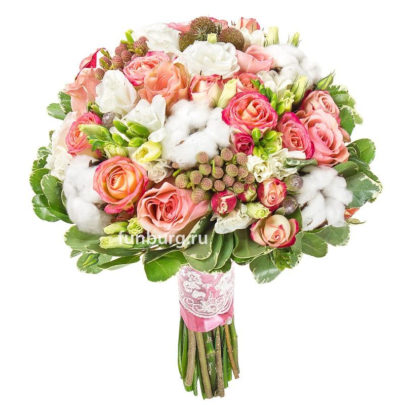 Букет Букет 71 роза Аваланш 60/70 см