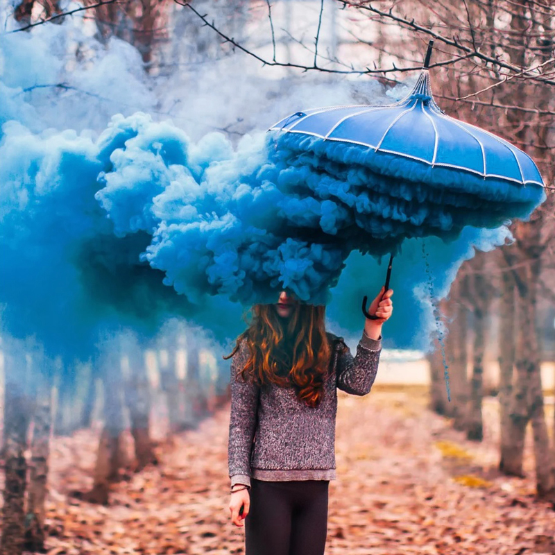 Цветной дым «Голубой» 5 шт фото