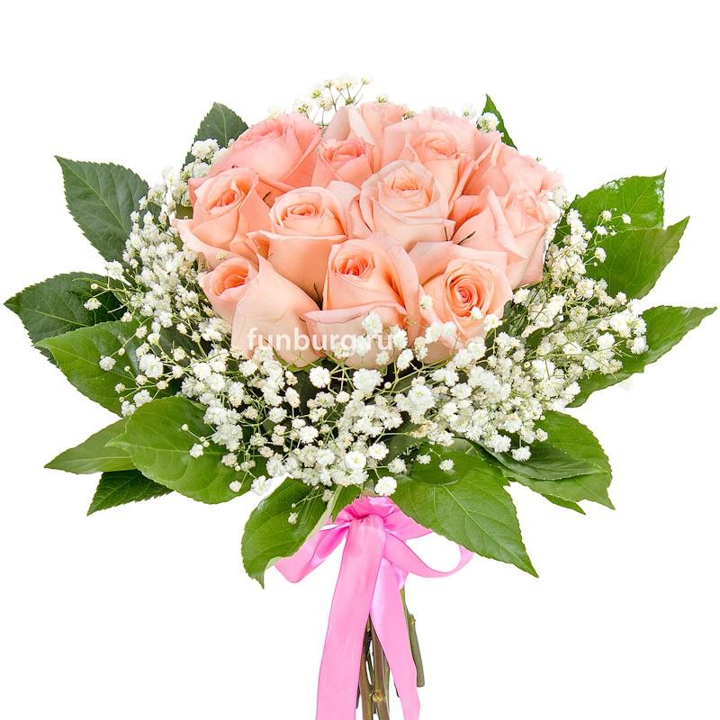 Букет с тюльпанами розовыми