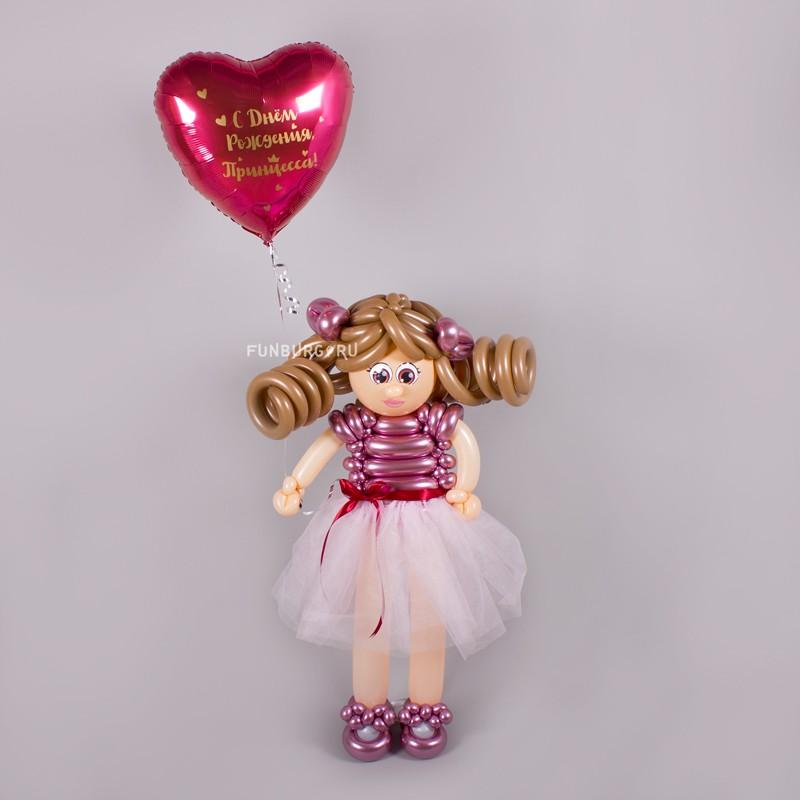 Фигура из шаров «Девочка с воздушным шаром» фото