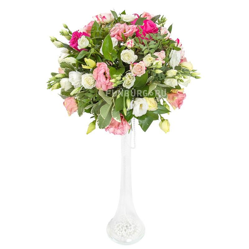 Настольная композиция в высокой вазе (вар. 3)