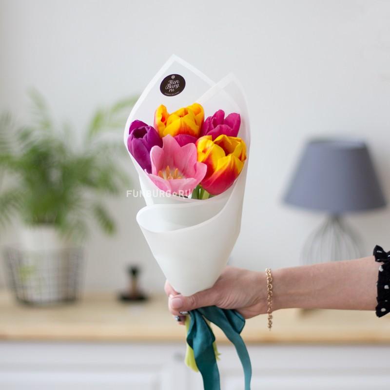 Купить Букет из тюльпанов «Мгновение»