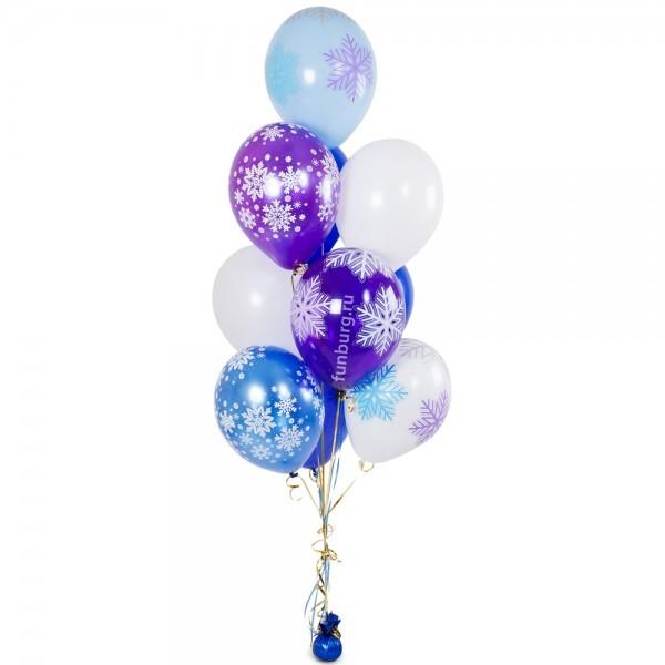 Купить Букет из шаров «Пушистые снежинки»