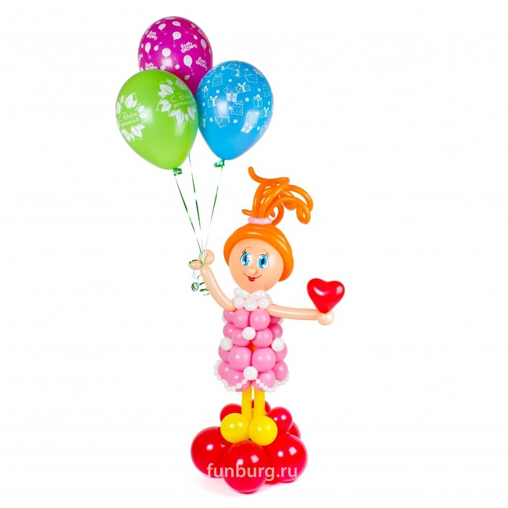 Фигура из шаров «Девочка-праздник» фото